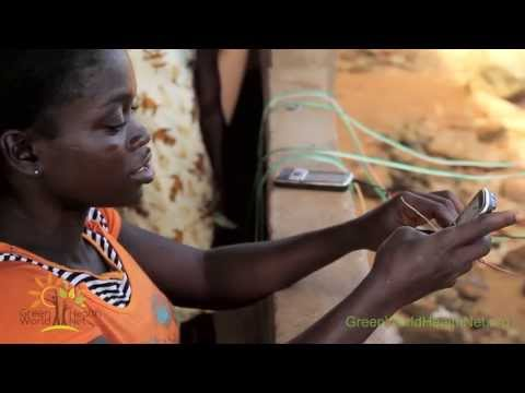 Solar Cell Phone Chargers Made in Ketakor, Ghana, Africa