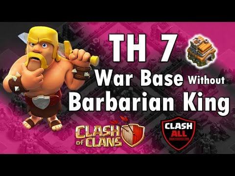 Th7 War Base Without Barbarian King  | Clash Of Clans | ClashAll