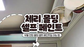 방꾸미기 #01 | 답없는 우물 천장, 체리 몰딩 셀프…