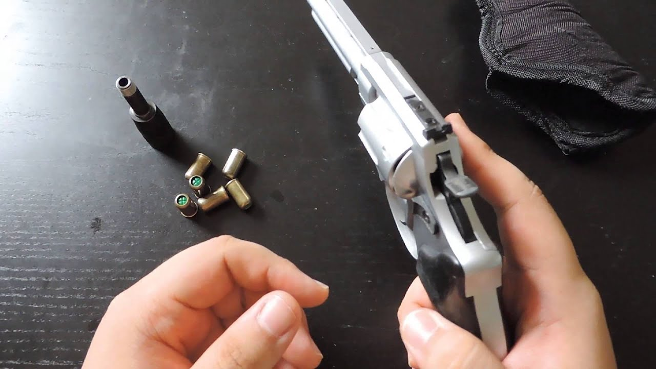 Review And Thoughts - Zoraki R1 4 5 9mm/380 Blank Fire Revolver Front Firing
