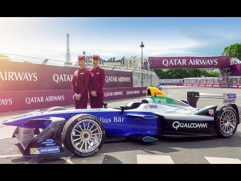 Qatar Airways at the 2017 FIA Formula E Paris ePrix