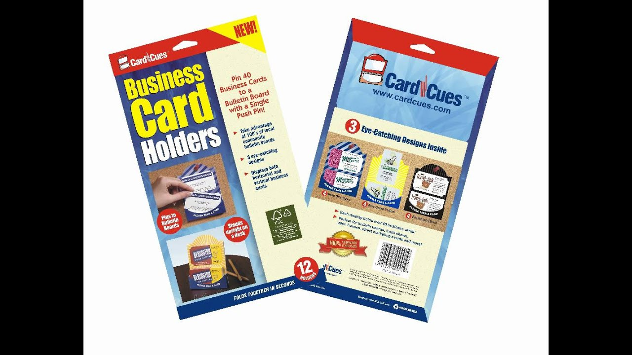 Business Card Holder / CardCues Bulletin Board Marketing Holders ...