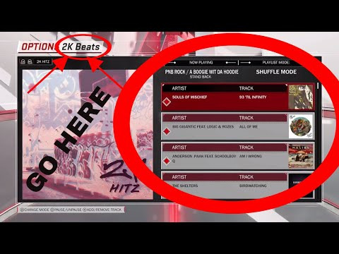 HOW TO CHANGE YOUR 2K18 MUSIC PLAYLIST/SONGS THEY GIVE YOU!SONGS YOU LIKE!