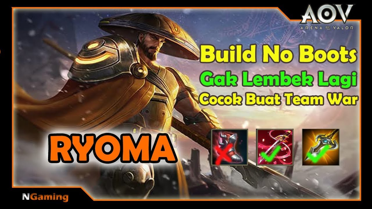 Aov Ryoma Build No Boots Trik Tips Gameplay