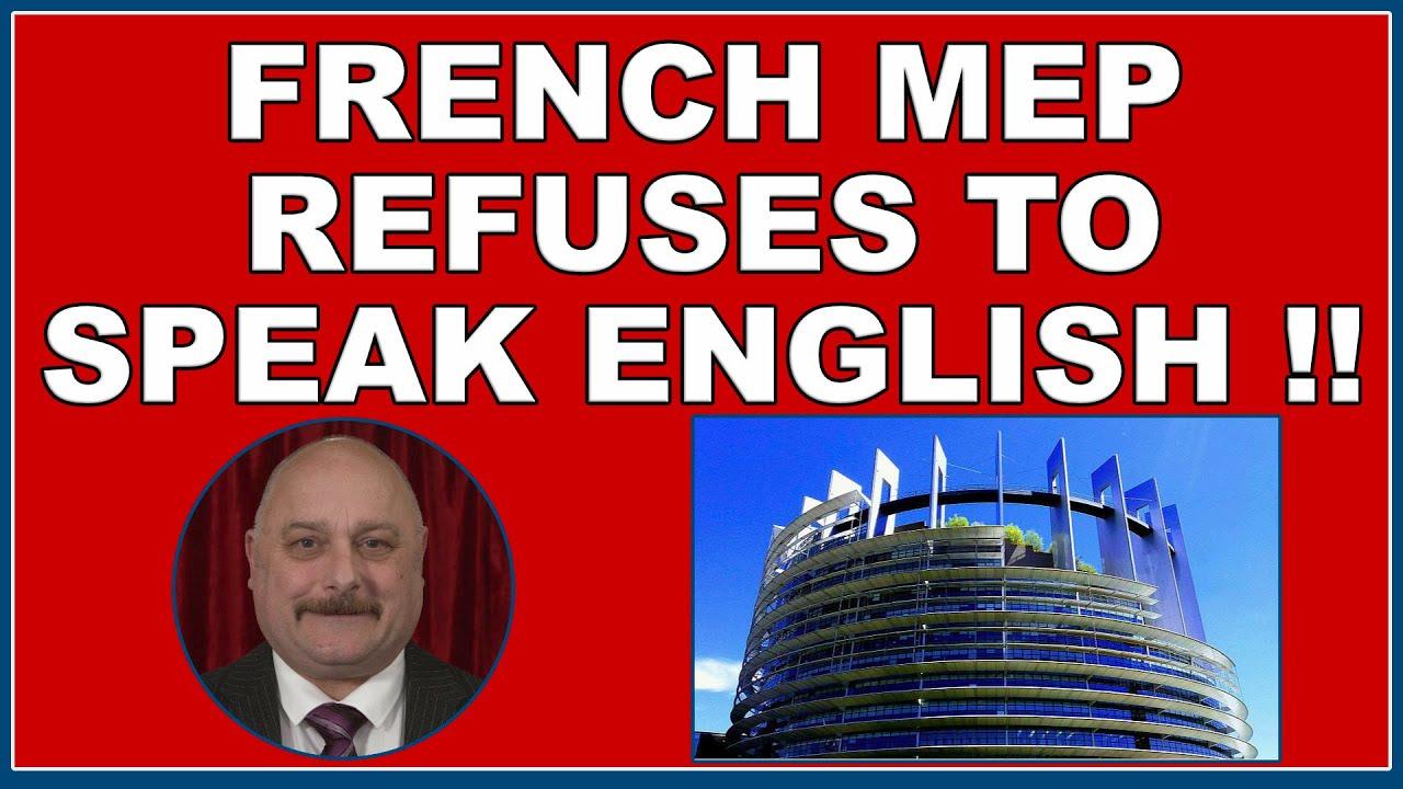 French MEP refuses to speak English! (4k)