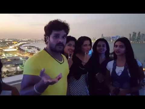 KHESARI LAL YADAV In DOHA - Qatar - BHOJPURI Nepali Mega Star Nite 2nd DEC 2016