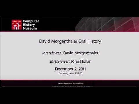 Oral History of David T. Morgenthaler