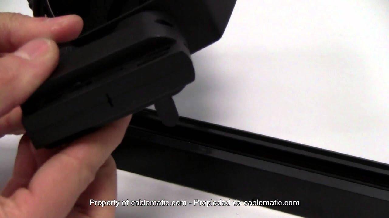 Foco Orientable Led De Carril Riel Distribuido Por Cablematic Youtube