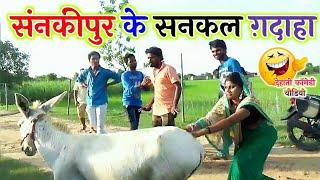 || COMEDY VIDEO || कजली के सनकल गदाहा || Bhojpuri Comedy Video|MR Bhojpuriya