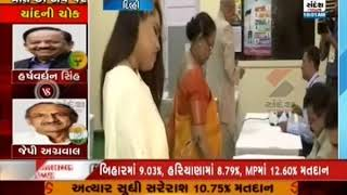 President Ram Nath Kovind voted at the Presidential Palace in …