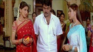 Aarthi Agarwal & Sonali Bendre Best Movie Scene chiranjeevi Vendithera