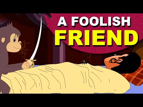 A Foolish Friend | The Foolish Monkey And The King #Panchatantra #MoralStories #Kids