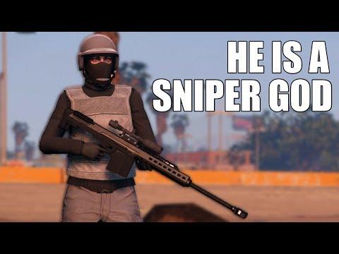 Destroyed By Sniper God On GTA 5 Online (Super Intense)