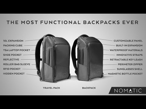 1e6d6aad81db2c The NOMATIC Backpack and Travel Pack (Kickstarter) - YouTube