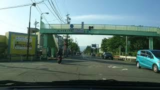 晴天の市街地から立山連峰(富山市)
