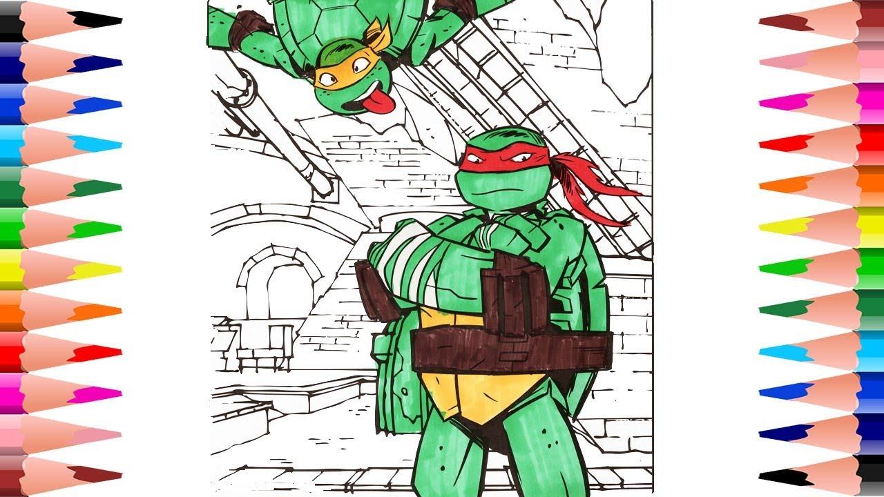 Painting Teenage Mutant Ninja Turtles Coloring Book For Kids ...