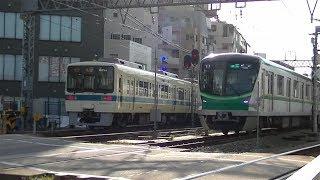 小田急8000形8254F+8054F&東京メトロ16000系16122F 向ヶ丘遊園にて
