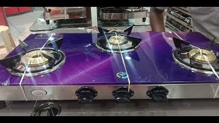 Unboxing glass gas stove /Surya Anant best and beautiful gas stove shopping n unboxing