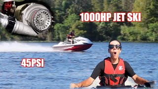 Riding a FULLY BUILT JET SKI on 45 POUNDS of BOOST! (INSANE)