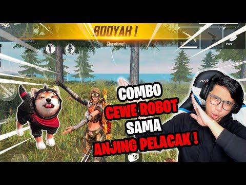 COMBO CEWE CANTIK ROBOT DENGAN GUGUK PELACAK BIKIN BOOYAH !- FREE FIRE INDONESIA