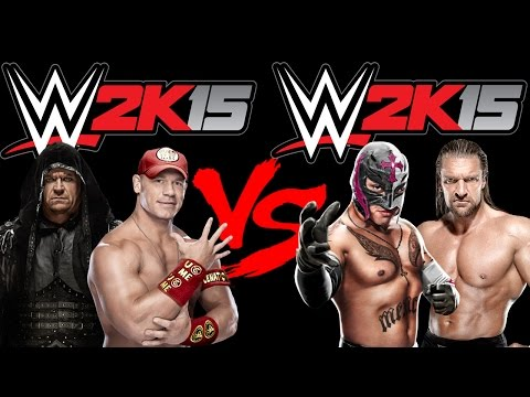 Undertaker E John Cena VS Rey Mysterio E Triple H - WWE2K15 (Xbox 360)
