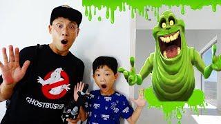 할로윈 특집 1편 예준이 집에 슬라임 액체괴물 유령 나타났다! 무서운 유령잡기 고스트바스터 놀이 Kids Haunted House Slimer Ghost Busters