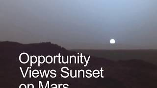 Opportunity Rover Snapped Martian Sunset in 2004