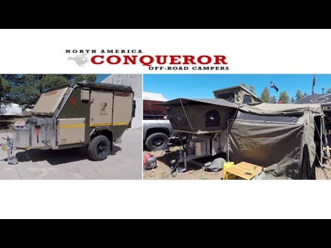 The biggest tent trailer I have ever seen by Conqueror c&er trailers Overland Expo 2017 & The biggest tent trailer I have ever seen by Conqueror camper ...