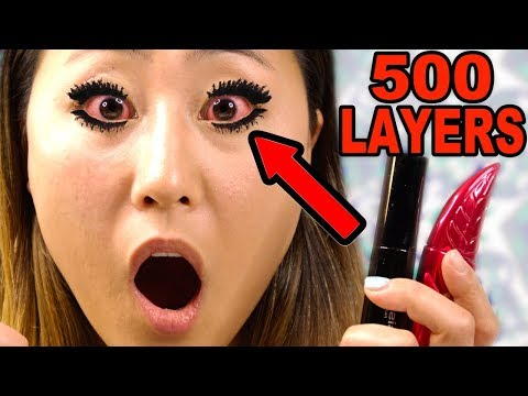 500 LAYERS OF MASCARA!! | LIZZY