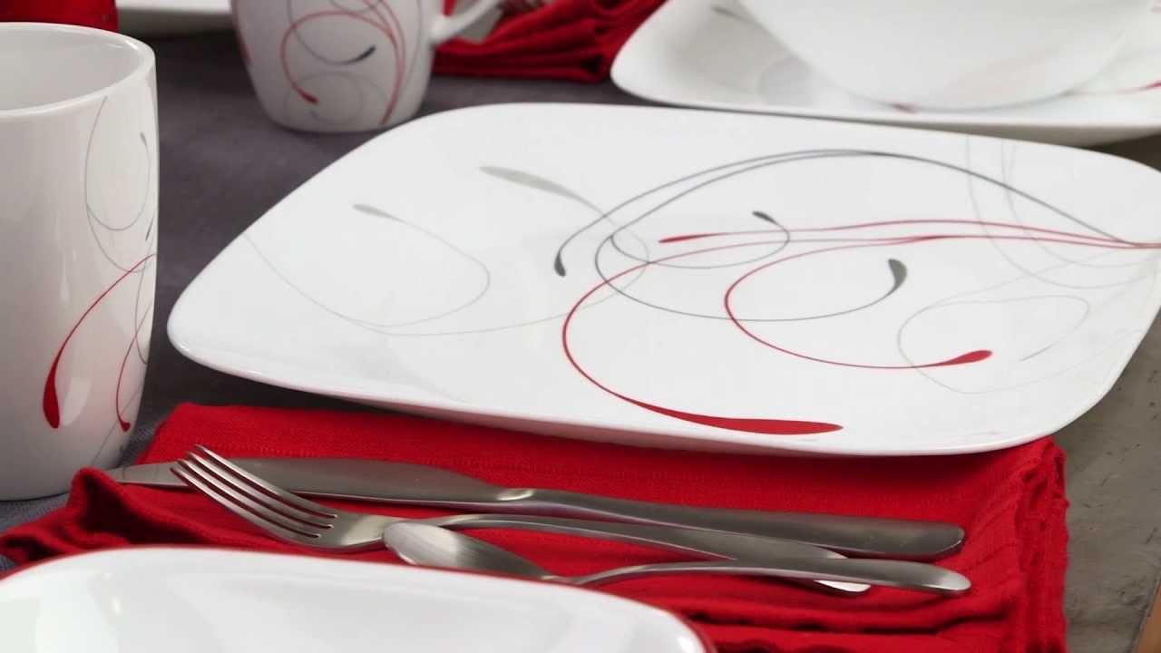 Corelle - Splendor 16 Piece Dinnerware Set - YouTube