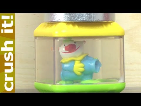 Crushing Fisher Price Blocks Toys with Hydraulic Press - Peek-A-Blocks