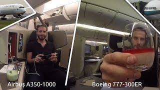 FLYING CATHAY PACIFIC'S AIRBUS A350-1000 & BOEING 777-300ER BUSINESS CLASS