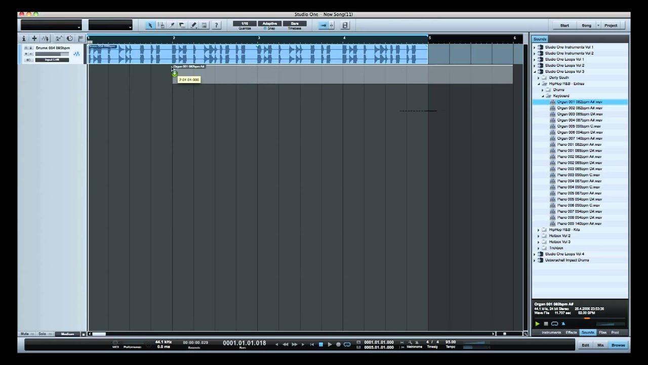 how to make beats on presonus studio one