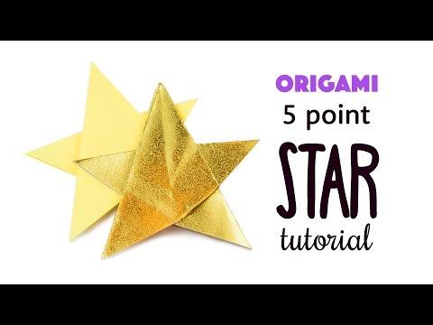 Easy Origami 5 Point Star Tutorial - DIY - Paper Kawaii