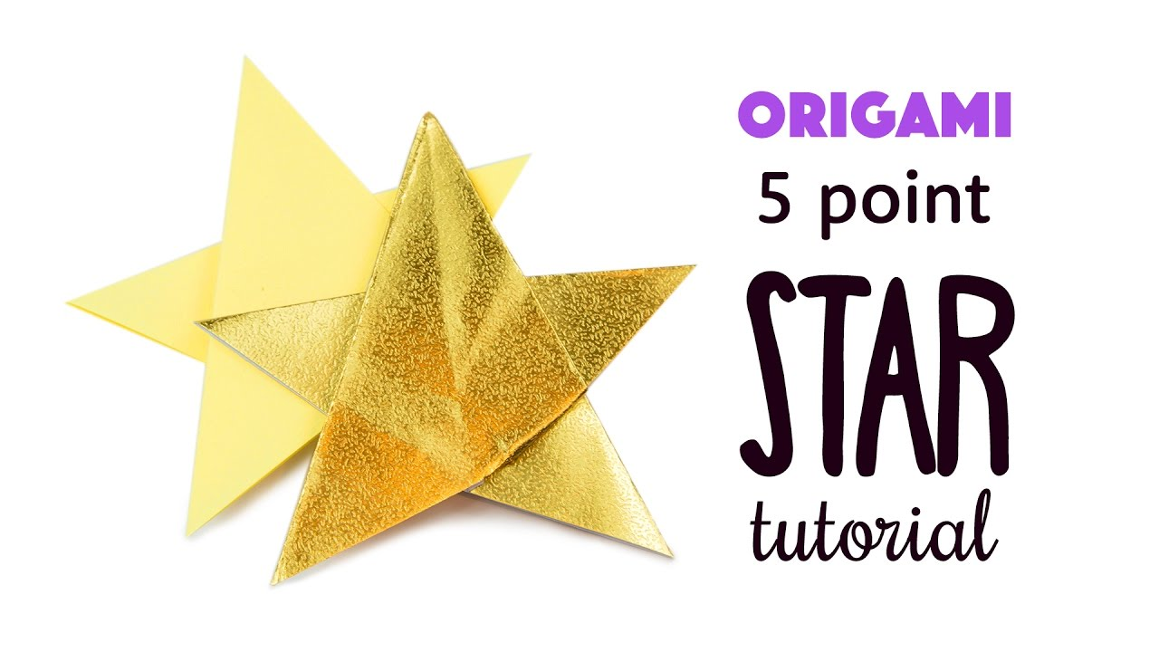 Folding 5 Pointed Origami Star Christmas Ornaments | 720x1280