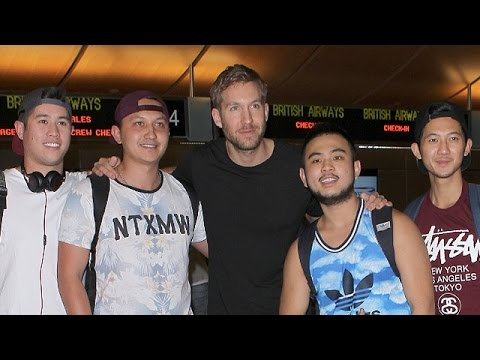 Taylor Swift's Man Calvin Harris Is Swarmed By Fans At LAX