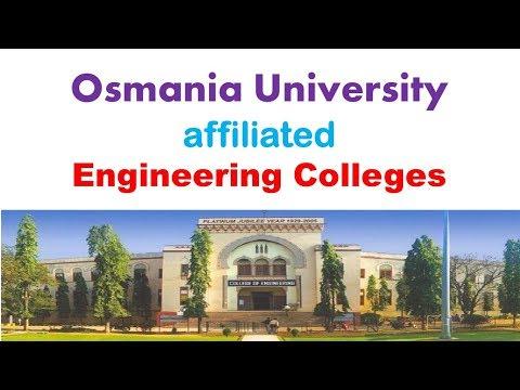 Osmania University affiliated Engineering Colleges List Hyderabad