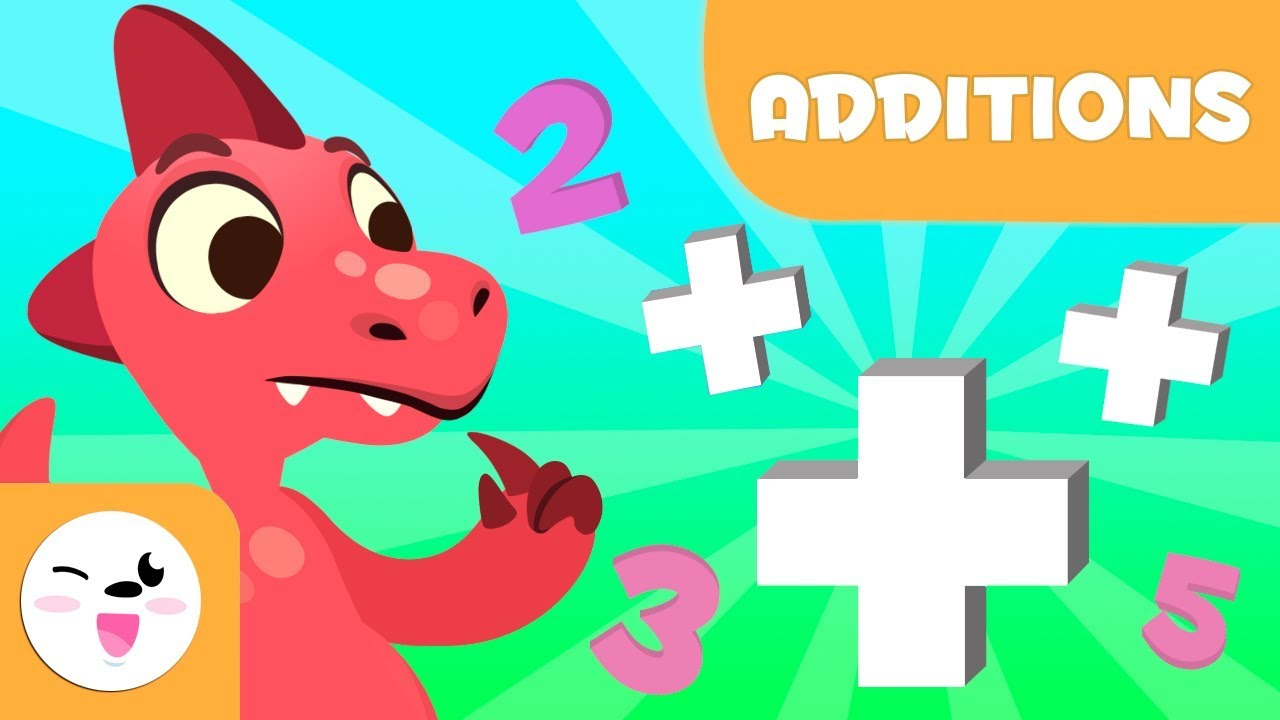 Addition for kids - Learning to add with Dinosaurs - Mathematics for kids