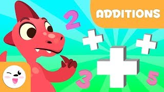 Addition for kids - Leaŗning to add with Dinosaurs - Mathematics for kids