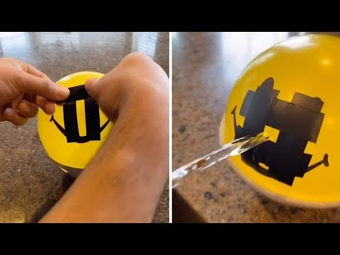 Man Creates Laminar Flow From Balloon