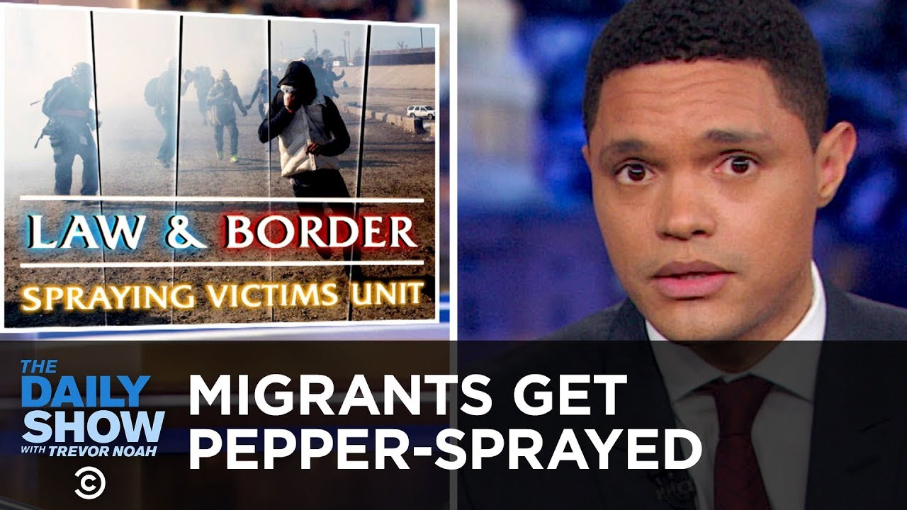 Migrants Get Pepper-Sprayed at the U.S. Border | The Daily Show