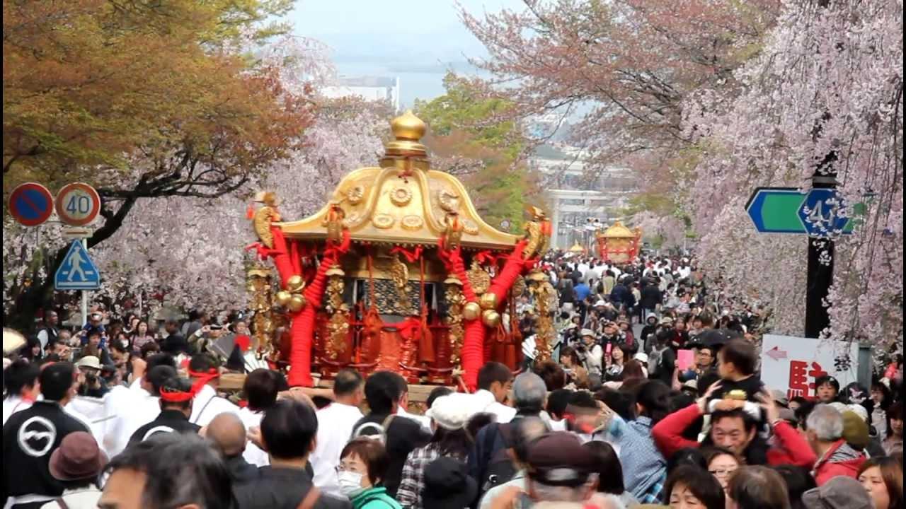 日吉大社 山王祭2013【神輿渡御】 - YouTube