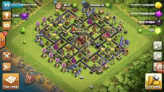 Đánh chay ném đá ( Vanh Clash of clans )