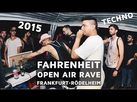 FAHRENHEIT TECHNO OPEN AIR - Illegaler Rave in Frankfurt Rödelheim