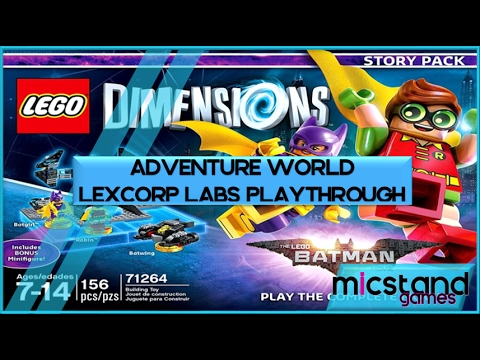 The LEGO Batman Movie Adventure World - LexCorp Labs playthrough (LEGO Dimensions) | Micstand Guides
