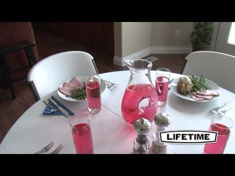 """Lifetime 48"""" Round Fold-In-Half Table 
