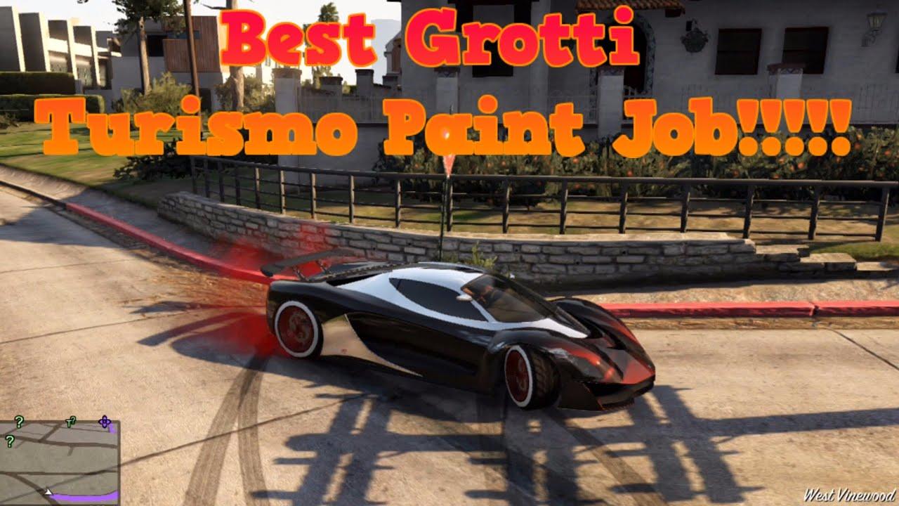 GTA 5 Online - Best Grotti Turismo Paint Job!!!!! - YouTube
