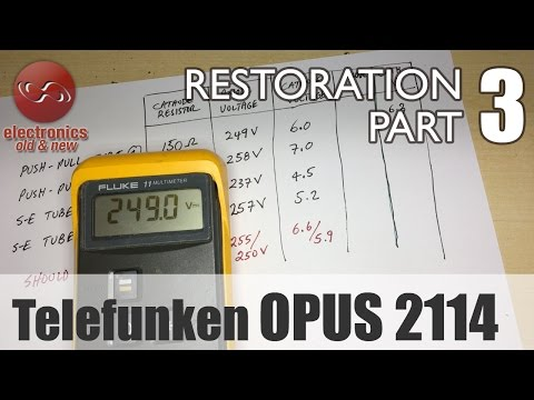 Telefunken Opus 2114 stereo tube radio restoration - Part 3. Biasing the power tubes.