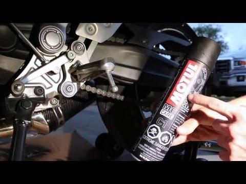 Yamaha Fz 07 How to Clean & Lube Chain