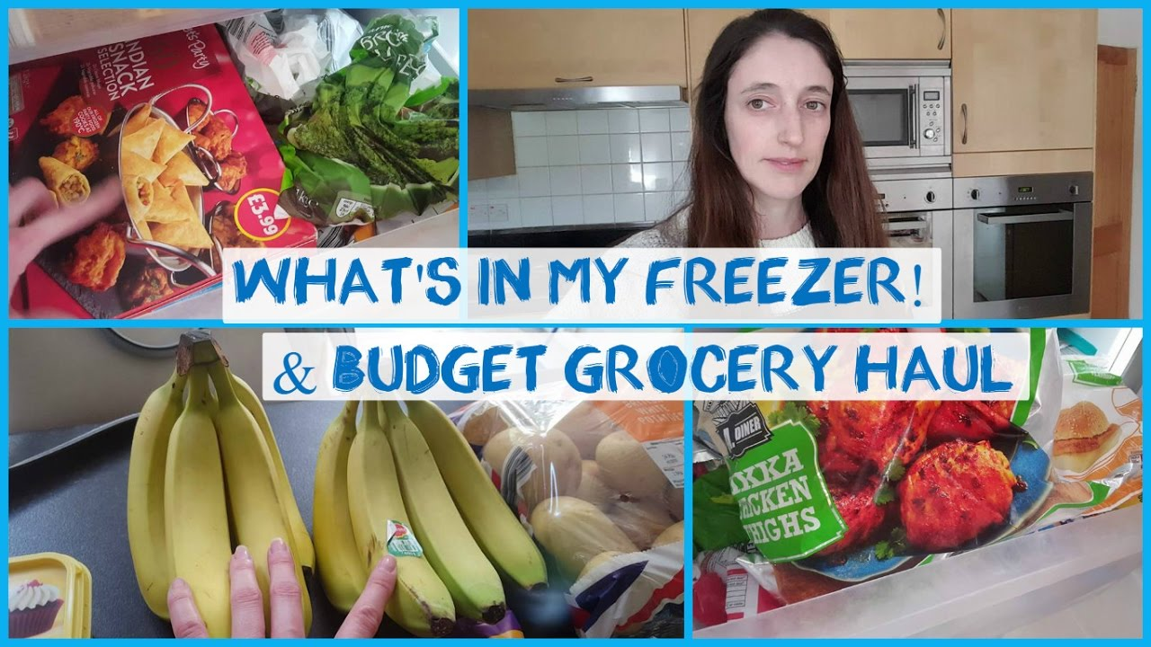 What's in my freezer & budget grocery haul